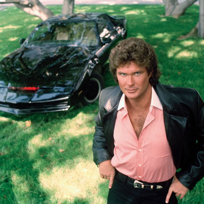David Hasselhoff als Michael Knight in The Knight Rider. De serie liep tussen 1982 en 1986.