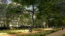 Impressie aangepaste plan voor de woningbouw aan de Parkhaven in Rotterdam.
