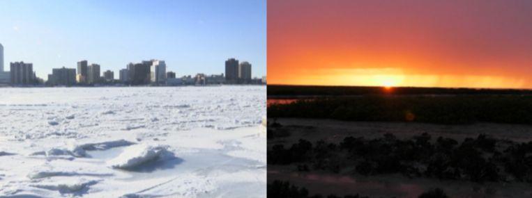 In Australië is het bijna honderd graden warmer dan in de VS.