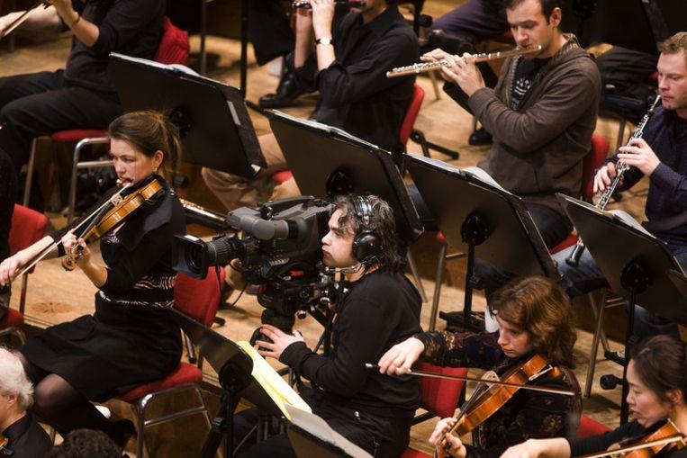 Het Koninklijk Concertgebouworkest repeteert woensdag onder leiding van dirigent Mariss Jansons in het Amsterdamse Concertgebouw voor de kerstmatinee op eerste kerstdag. Foto ANP/Koen Suyk Beeld