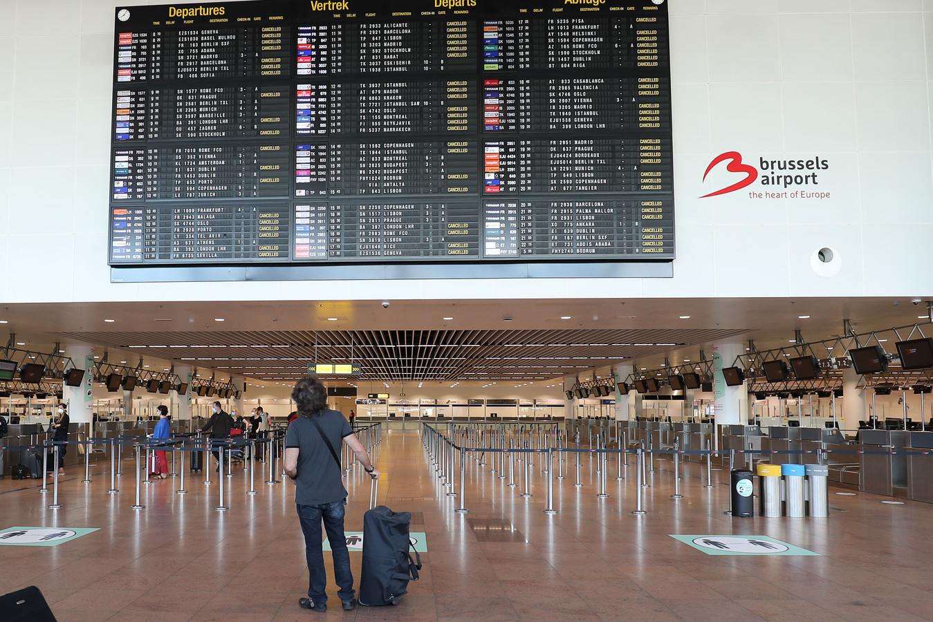 Seul l'aéroport de Zaventem serait concerné par des vols de moins de 500 km