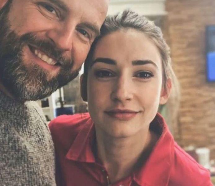 David Cantens en Jasmijn Van Hoof als Jonas en Stefanie in 'Familie'