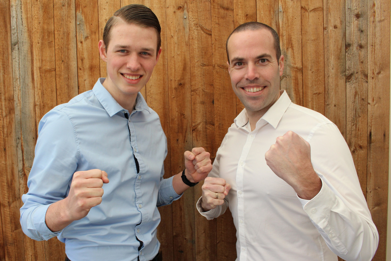 Barry Botman (links) en Jeffrey Persoon gaan de strijd aan met elkaar en anderen via platform ChaPo, dat zij hebben ontwikkeld voor sportliefhebbers.