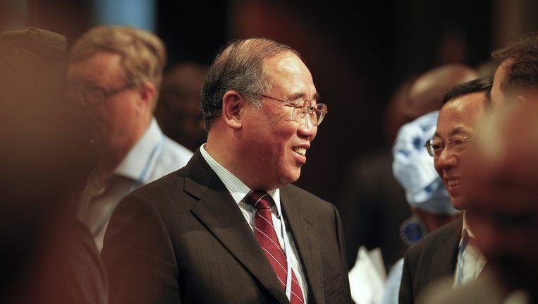 Het hoofd van de Chinese delegatie in Durban, Xie Zhenhua. Beeld epa