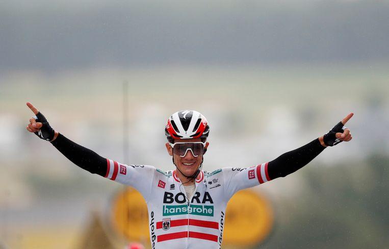 Konrad won voor zijn etappezege in Saint-Gaudens als profrenner slechts twee keer eerder een rit. Beeld REUTERS