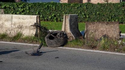 Losgekomen wiel veroorzaakt verkeersongeval