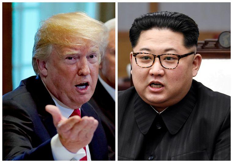 Donald Trump en Kim Jong-Un: zitten ze straks alsnog samen? Beeld Reuters