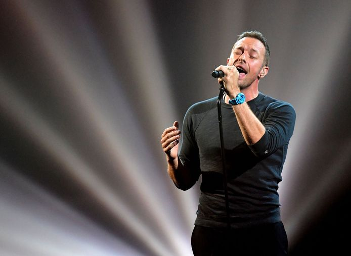 Le chanteur du groupe Coldplay, Chris Martin.
