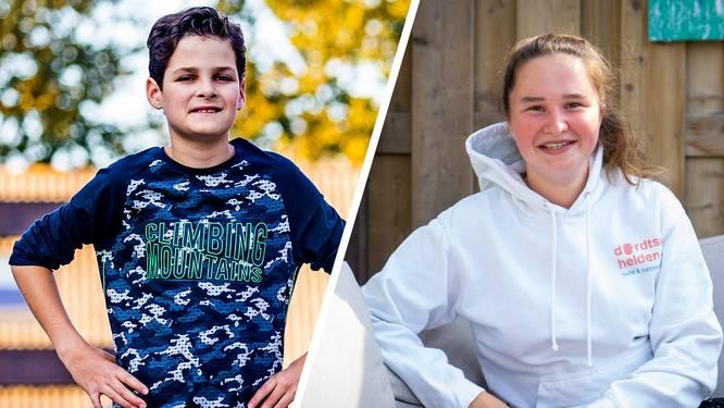Nuno (12) en Eva (16) hebben zich ingezet voor een goed doel en zijn de 'Dordtse Beloften'