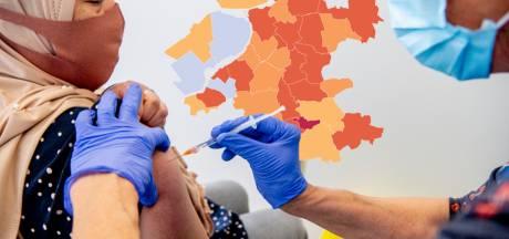 KAART |  Regionale coronacijfers stijgen, tégen de landelijke trend in
