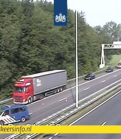Ongeluk met meerdere auto's op A58 bij Oirschot richting Eindhoven