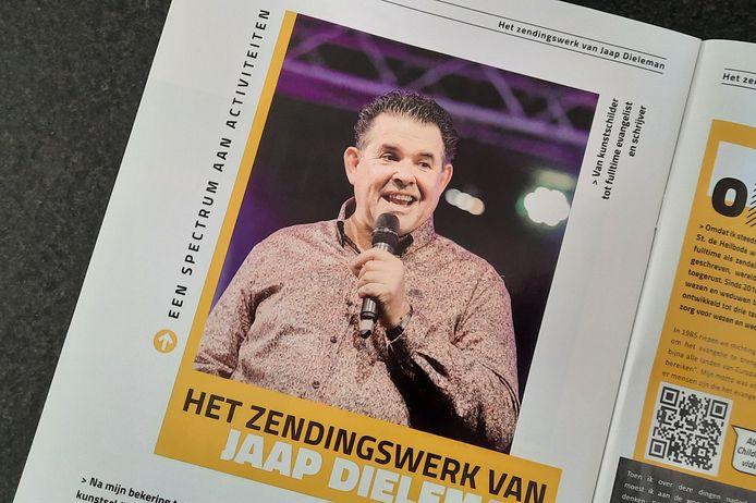 Jaap Dieleman op de foto in zijn blad Eyeopener.