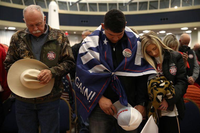 Aanhangers van Ted Cruz.  Beeld AFP