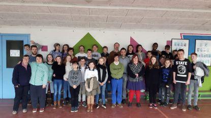 Acteurs Tytgat Chocolat geven workshop op school