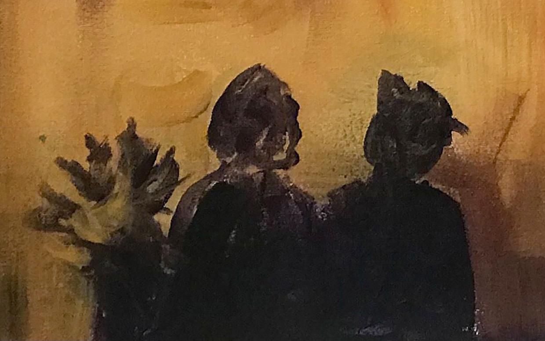 Detail uit Yellow Painting of Burning City 1. Beeld Lumen Travo