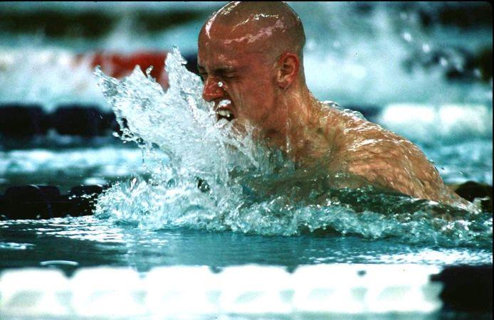 Frederik Deburghgraeve in 1996 op de Olympische Spelen in Atlanta.