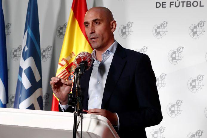De Spaanse bondsvoorzitter Luis Rubiales.