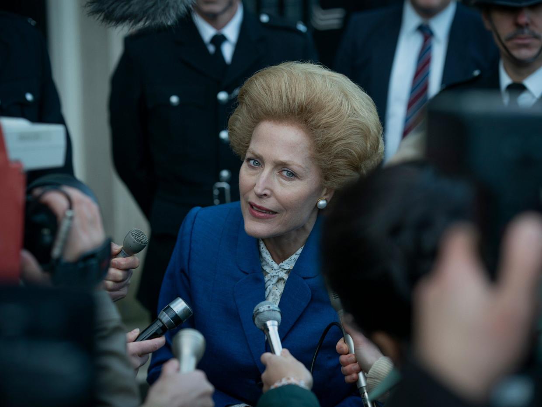 De verhaallijn van onder andere Margaret Tatcher in de serie 'The Crown' zou volgens critici gedramatiseerd zijn en niet stroken met de werkelijkheid.  Beeld Netflix