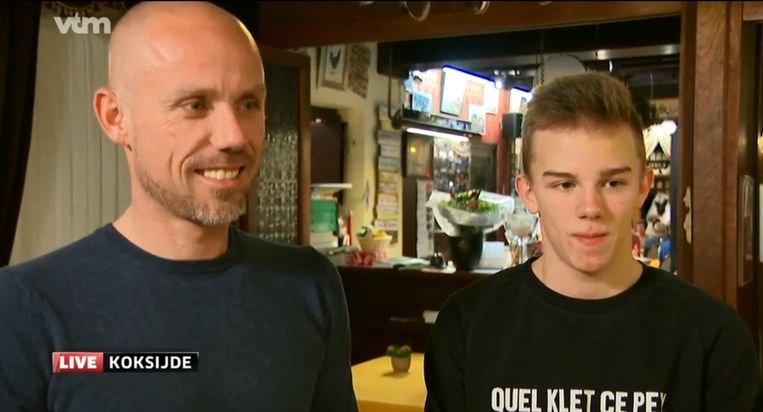 Sven en Thibau werden geïnterviewd door VTM Nieuws.