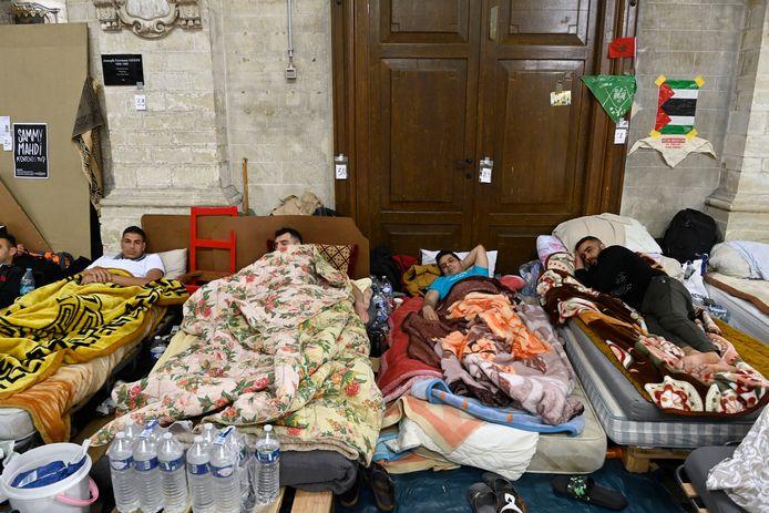 Les demandeurs d'asile ont trouvé refuge à l'église du Béguinage, à Bruxelles.