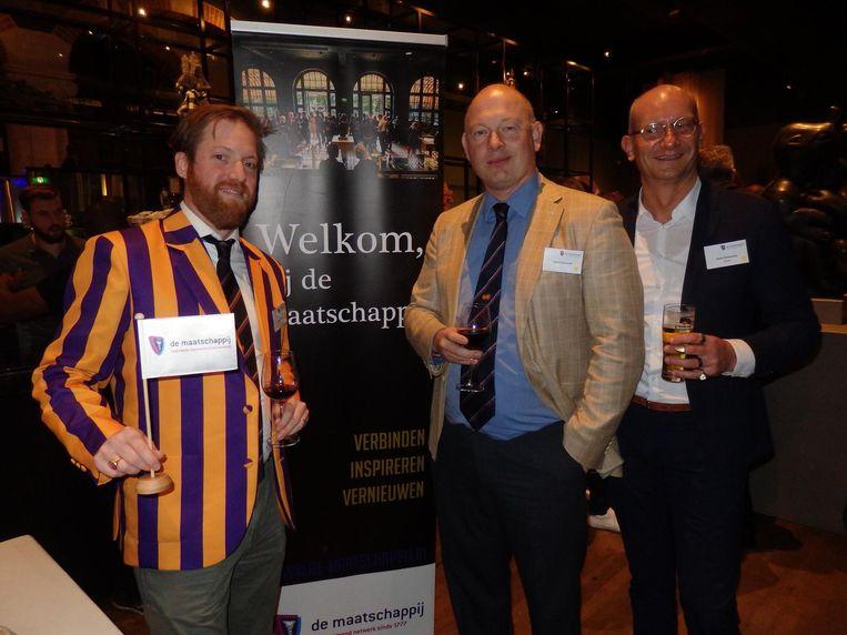 Tobias Maessen (BinckBank), lobbyist Marten Schwandt en Edwin Akkermans (Sogeti): 'Dit wordt gezien als de vierde revolutie van de Europese economie' Beeld Schuim