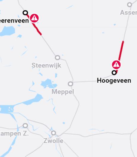Aanrijdingen zorgden voor beperkt treinverkeer tussen Zwolle en Noord-Nederland
