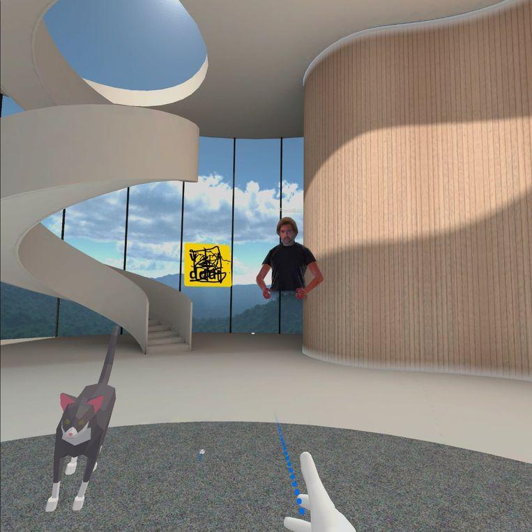 Een ander platform, zoals Spatial, dat de ambitie heeft om de Zoom van de virtuele vergadering te worden, kiest ervoor om een avatar te creëren uit een echte foto. Beeld RV
