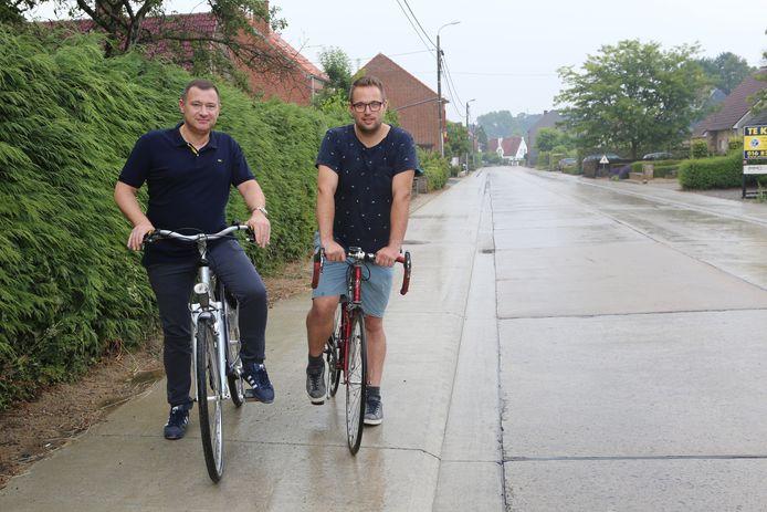 Peter Reekmans en Simon Vandermeulen willen het fietsen in hun gemeente nog veiliger maken