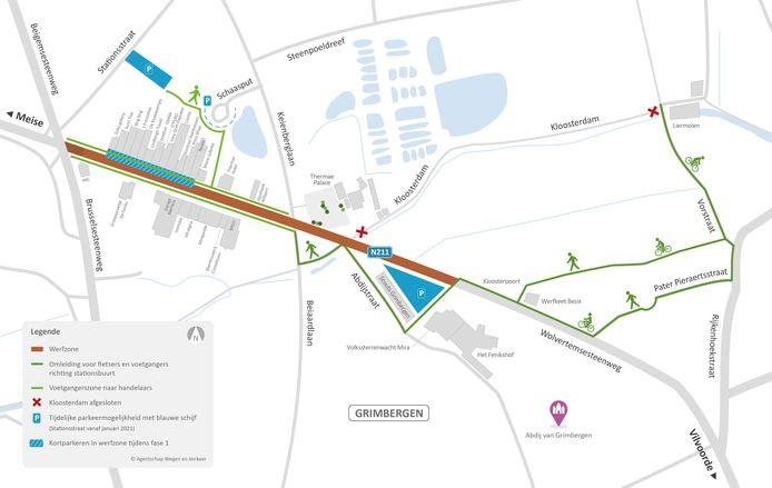 Parkeerplan Feniksstation - Wolvertemsesteenweg - werkzaamheden - Grimbergen