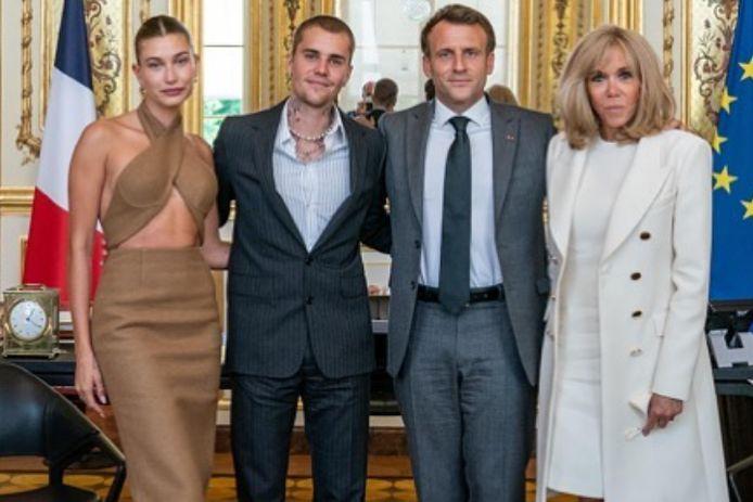 Justin Bieber et son épouse ont rencontré Emmanuel Macron.