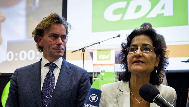 CDA-Kamerlleden Ad Koppejan (l) en Kathleen Ferrier. © ANP Beeld ANP