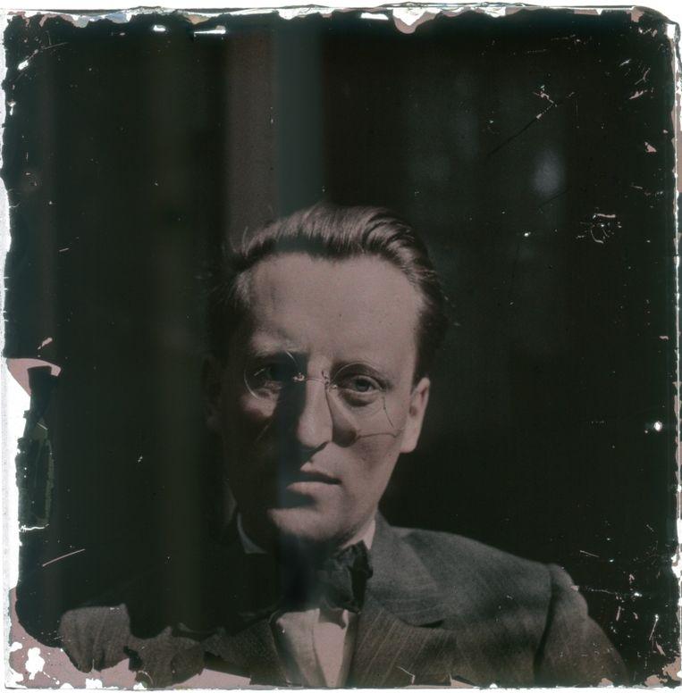 Zelfportret Leendert Blok, omstreeks 1930-1935. Beeld Leendert Blok/Galerie Dudok de Groot