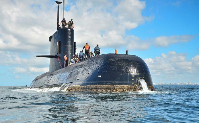 Archiefbeeld van duikboot San Juan.