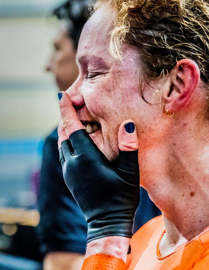 Kirsten Wild, Koningin van het WK baanwielrennen in Apeldoorn in 2018. Vanaf woensdag start het WK in Polen.