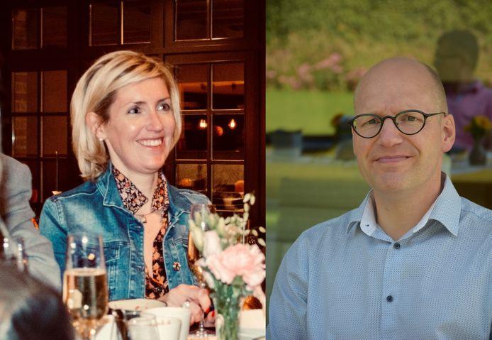 Karolien Delmotte en Pieter Haesbrouck worden het nieuwe voorzittersduo van Unizo Izegem.