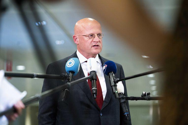 Volgens de premier is Ferdinand Grapperhaus nog steeds geloofwaardig als coronabestrijder.  Beeld ANP