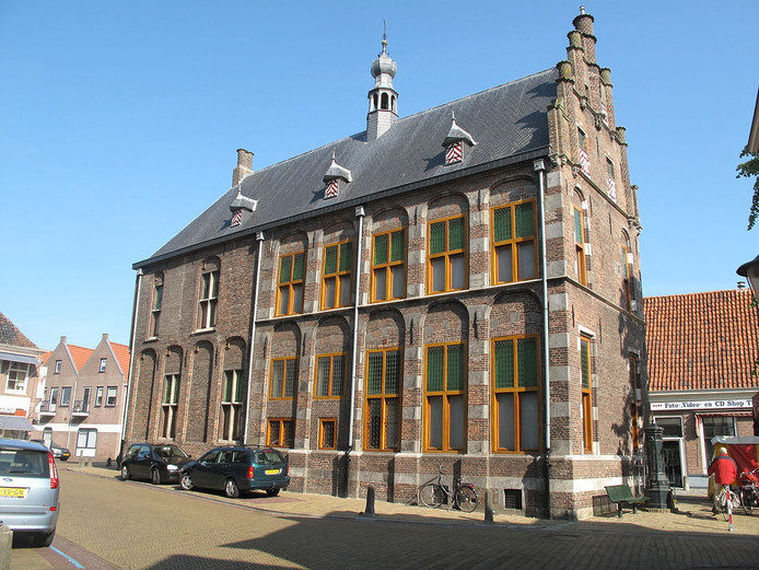 Het monumentale Oude Stadhuis in Hasselt .