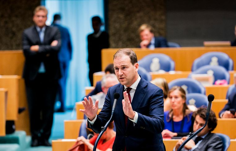Lodewijk Asscher tijdens de tweede dag van de Algemene Beschouwingen Beeld ANP