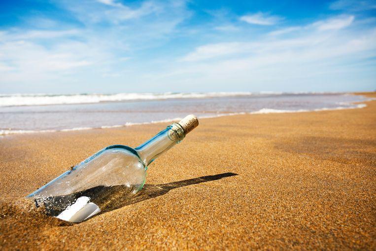 Da's nog eens een flinke reis: flessenpost uit Japan spoelt na 37 jaar aan op Hawaï Beeld Getty Images