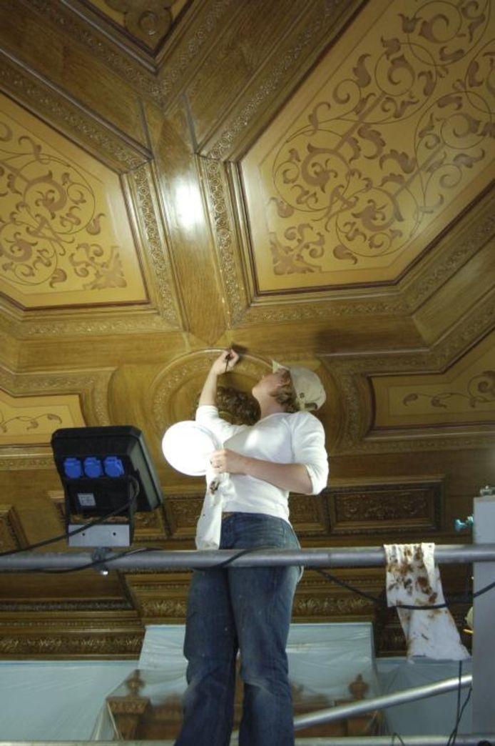 Rinkel deed restauratie in het museum Jan Cunen in Oss.