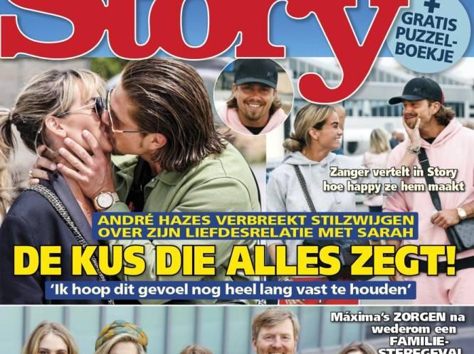 """André Hazes steekt zijn liefde voor Sarah niet meer weg: """"Nu ik al twee maanden bij hen woon, zijn ook haar ouders overtuigd"""""""