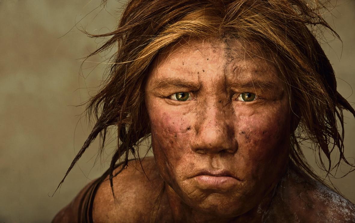 Op basis van wetenschappelijke gegevens werd in 2008 deze reconstructie van een neanderthalervrouw gemaakt.
