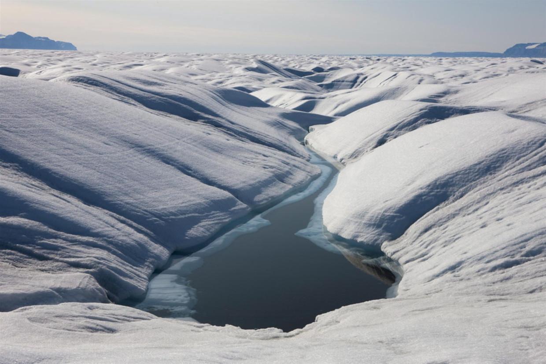 IJs op Groenland.