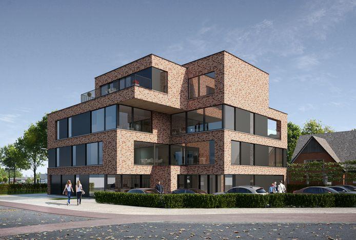 Het gebouw heeft een zeer moderne look.