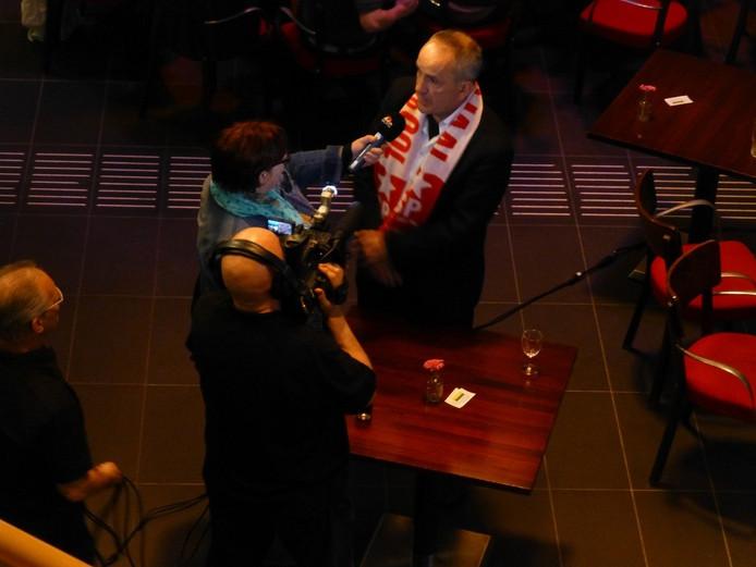 SP-leider Ruud Merks van Schijndel werd geïnterviewd kort na de uitslag in 2014..