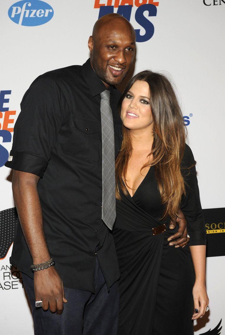 Odom en Khloe Kardashian in 2012. Beeld reuters