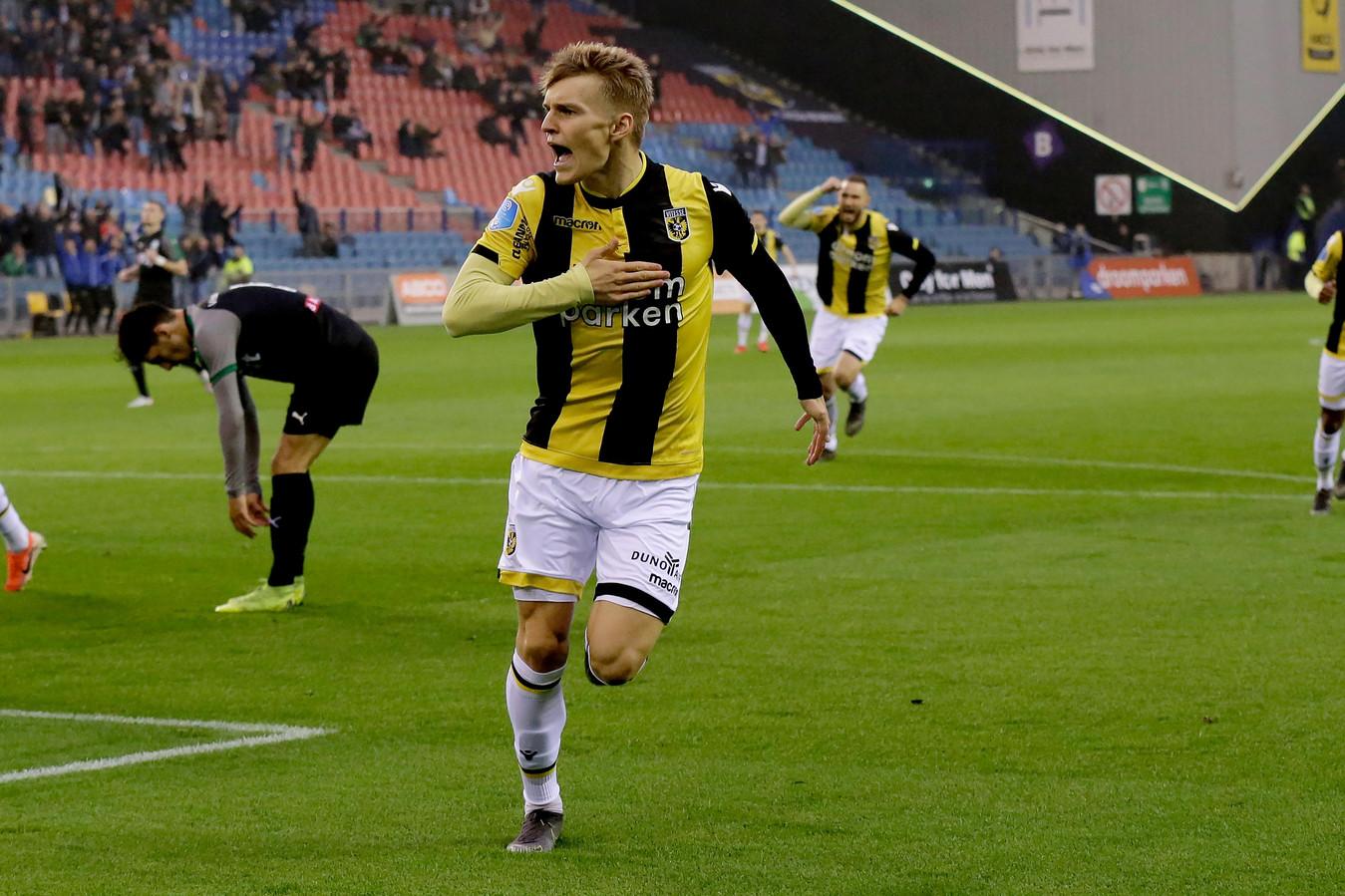 Martin Ødegaard viert zijn vroege treffer.