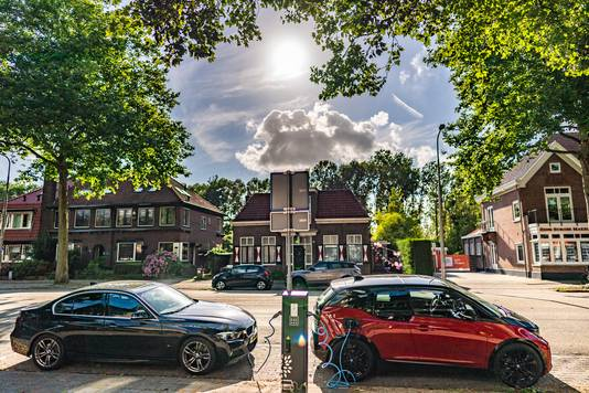 Oplaadpunt voor elektrische auto's in Amstelveen.
