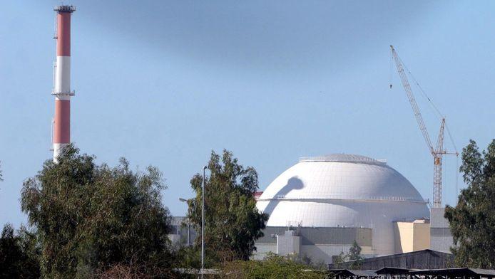 De nucleaire energiecentrale in Bushehr, Iran.