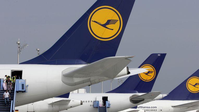 Toestellen van Lufthansa. Beeld ap